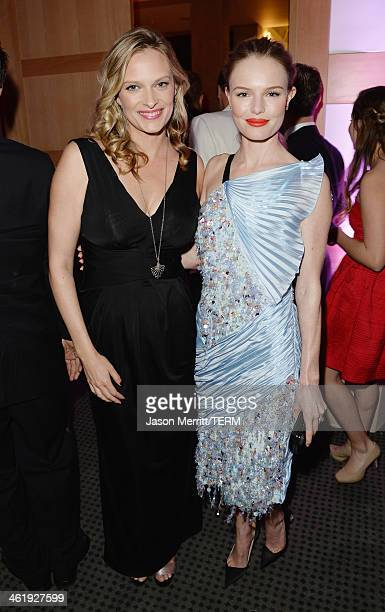 Actresses Vinessa Shaw and Kate Bosworth attend The Art of Elysium's 7th Annual HEAVEN Gala presented by MercedesBenz at Skirball Cultural Center on...