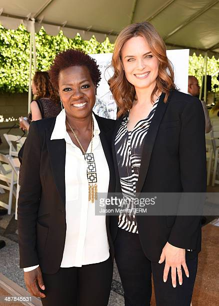 Actresses Viola Davis and Emily Deschanel attend The Rape Foundation's groundbreaking ceremony for construction of a New Stuart House for sexually...