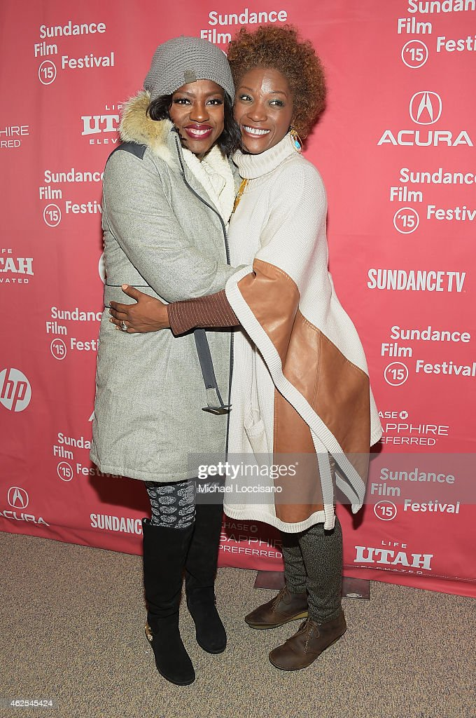 Actresses Viola Davis (L) and Yolonda Ross attend the 'Lila And Eve' Premiere during the 2015 Sundance Film Festival on January 30, 2015 in Park City, Utah.