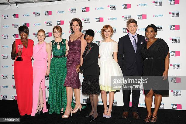 Actresses Viola Davis, Jessica Chastain, Emma Stone, Allison Janney, Cicely Tyson, Ahna O'Reilly, actor Chris Lowell and actress Octavia Spencer,...