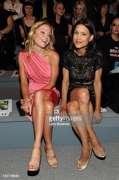 Actresses Virginia Williams and Julia Jones attend the Tadashi Shoji Spring 2012 fashion show during MercedesBenz Fashion Week at The Stage at...