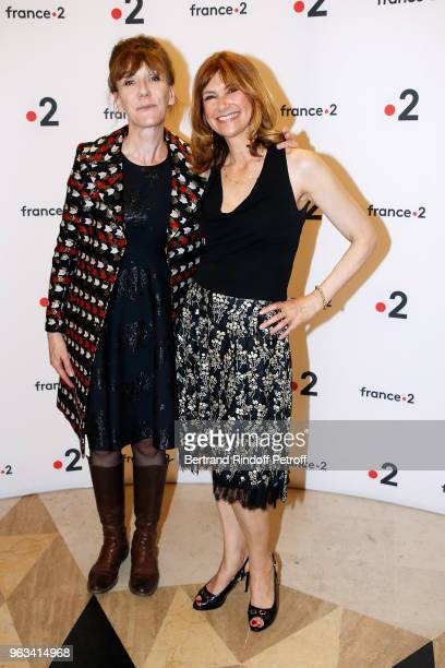 Actresses Virginie Lemoine and Florence Pernel attend Ceremonie des Molieres 2018 at Salle Pleyel on May 28 2018 in Paris France