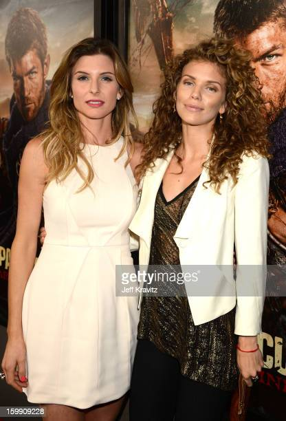 Actresses Viva Bianca and AnnaLynne McCord attend the Spartacus War Of The Damned premiere at Regal Cinemas LA LIVE Stadium 14 on January 22 2013 in...