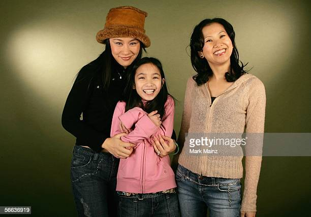 Actresses Vivian Wu and Phoebe Jojo Kut and director Julis Kwan pose for a portrait at the Getty Images Portrait Studio during the 2006 Sundance Film...