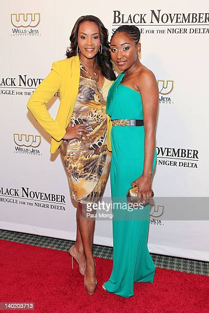 Actresses Vivica A Fox and Mbong Amata attend the 'Black November' film screening at The Library of Congress on February 29 2012 in Washington DC