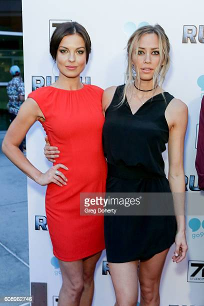 Actresses Vlada Verevko and Aqueela Zoll arrive for the Premiere Of Studio 71's 'Rush Inspired By Battlefield' at the ArcLight Hollywood on September...