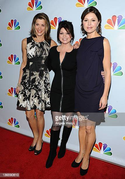 Actresses Wendie Malick Valerie Bertinelli and Jane Leeves attend NBC's taping of 'Betty White's 90th Birthday A Tribute to America's Golden Girl' at...