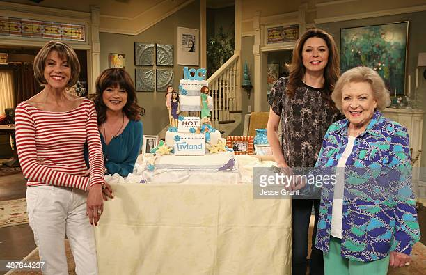 """Actresses Wendie Malick, Valerie Bertinelli, Jane Leeves and Betty White attend TV Land's """"Hot In Cleveland"""" 100 Episodes Celebration on May 1, 2014..."""