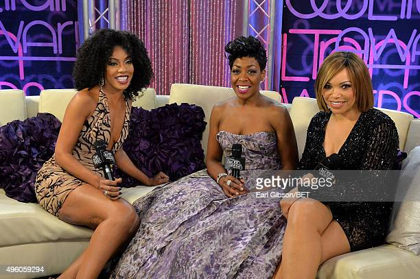 Actresses Wendy Raquel Robinson Tichina Arnold and Tisha CampbellMartin attend the 2015 Soul Train Music Awards at the Orleans Arena on November 6...