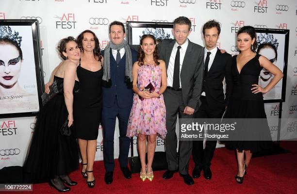 Actresses Winona Ryder Barbara Hershey Director Darren Aronofsky actors Natalie Portman Vincent Cassel Benjamin Millepied and Mila Kunis arrive at...