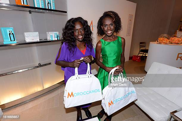 Actresses Xzannjah Matsi and Healesville Joel attend Variety Studio presented by Moroccanoil at Holt Renfrew on Day 2 at Holt Renfrew Toronto during...