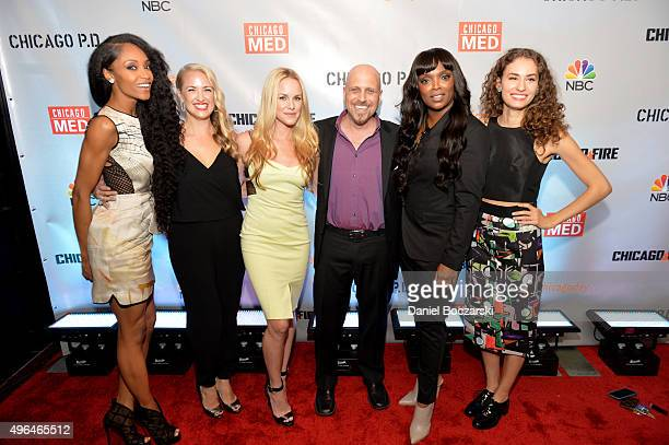 Actresses Yaya DaCosta Melissa Dennis Julie Marie Berman Dr Andrew Dennis Marlyne Barrett and Rachel DiPillo attend a premiere party for NBC's...