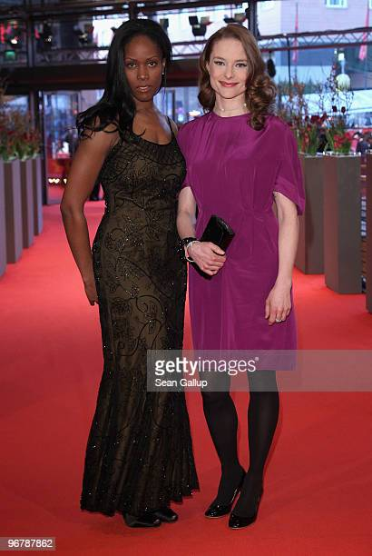 Actresses Yolette Thomas and Anne RattePolle attend the 'Shahada' Premiere during day seven of the 60th Berlin International Film Festival at the...