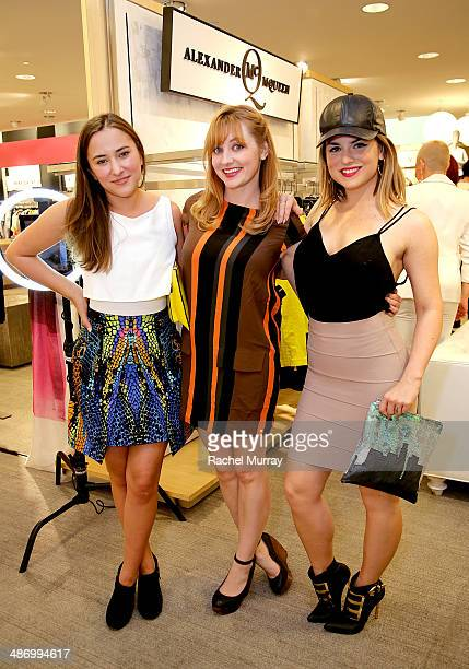 Actresses Zelda Williams Shannon Collis and singer JoJo attend Neiman Marcus and Teen Vogue celebrate McQ's Spring Collection hosted by Zelda...