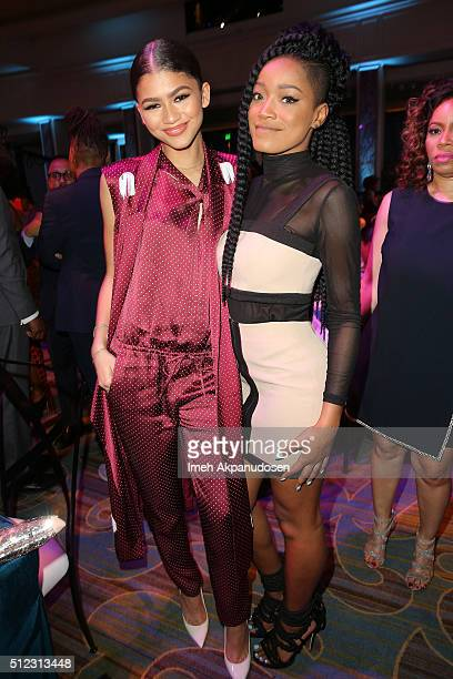 Actresses Zendaya and Keke Palmer attend the 2016 ESSENCE Black Women In Hollywood awards luncheon at the Beverly Wilshire Four Seasons Hotel on...