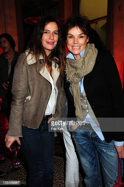 Actresses Zoe Felix and Claire Nebout attend the Nathalie Garcon Pop up Store Launch Party at Gallery Vivienne on September 27 2010 in Paris France