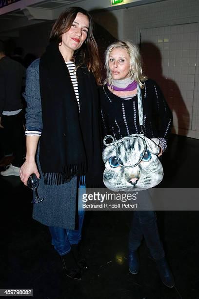 Actresses Zoe Felix and Florence Thomassin attend Maison Jean Paul Gaultier Hosts 'Le Projet ICCARRE Association' Against AIDS at 325 Rue Saint...