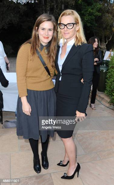Actresses Zoe Jarman and Angela Featherstone attend the Wine Women Shoes Event benefiting The Children's Action Network event at a private residence...