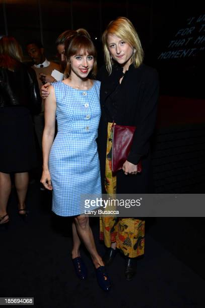 Actresses Zoe Kazan and Mamie Gummer attend PRADA Journal A Literary Contest In Collaboration With Feltrinelli Editore at the Prada Epicenter Store...