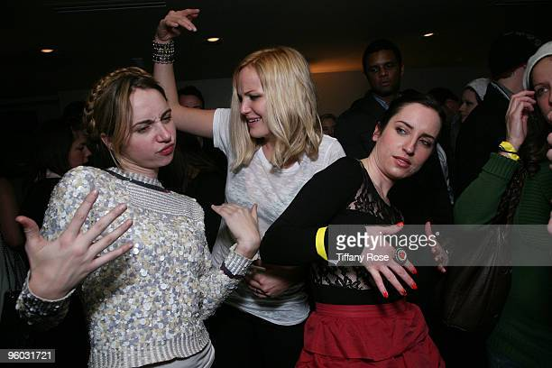 Actresses Zoe Kazan Malin Akerman and Zoe ListerJones attend GenArt 7 Fresh Faces in Film at the Sky Lodge on January 22 2010 in Park City Utah