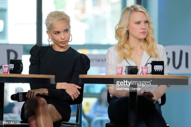 Actresses Zoe Kravitz and Kate McKinnon discuss the new film 'Rough Night' at Build Studio on June 9, 2017 in New York City.