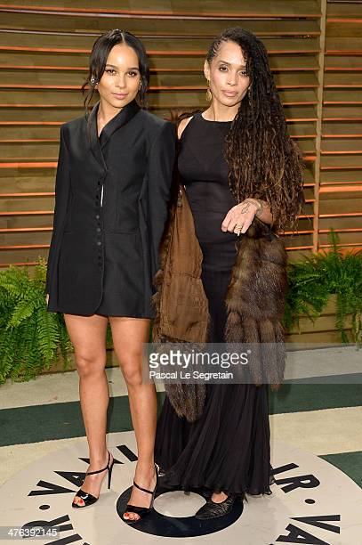 Actresses Zoe Kravitz and Lisa Bonet attend the 2014 Vanity Fair Oscar Party hosted by Graydon Carter on March 2 2014 in West Hollywood California