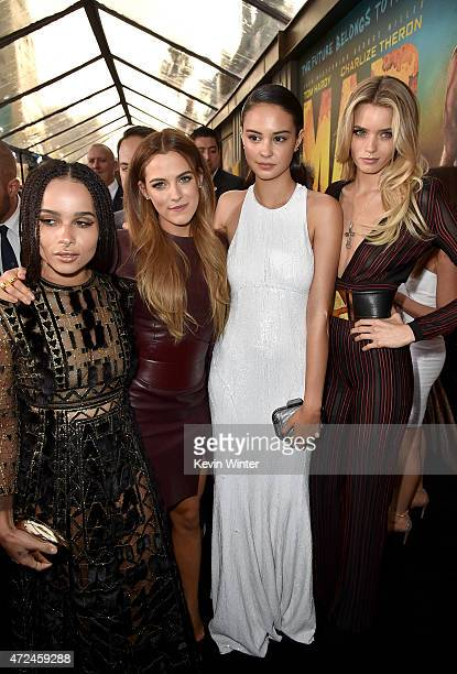 Actresses Zoe Kravitz Riley Keough Courtney Eaton and Abbey Lee attend the premiere of Warner Bros Pictures' 'Mad Max Fury Road' at TCL Chinese...