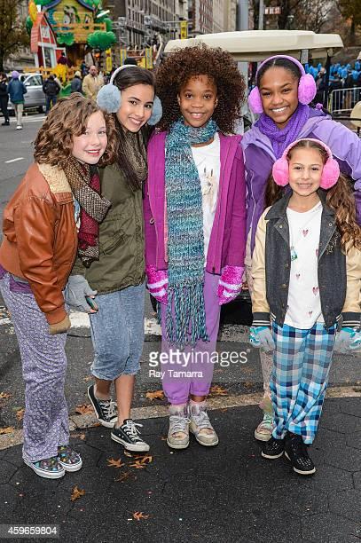 Actresses Zoe Margaret Colletti Amanda Troya Quvenzhane Wallis Eden DuncanSmith and Nicolette Pierini attend the 88th Annual Macys Thanksgiving Day...