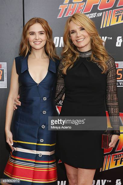 Actresses Zoey Deutch and Lea Thompson attend 'Back To The Future' New York Special Anniversary screening at AMC Loews Lincoln Square on October 21...