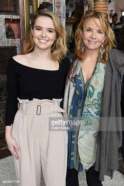 Actresses Zoey Deutch and Lea Thompson attend Lunch Celebrating Films Powered By Women Hosted By Glamour's Cindi Leive And Girlgaze's Amanda de...