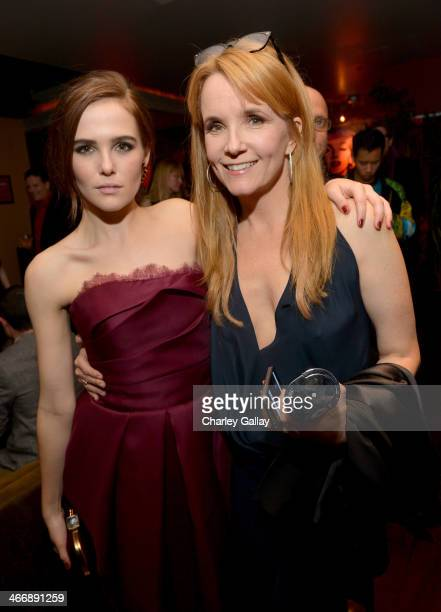 Actresses Zoey Deutch and Lea Thompson attend The Weinstein Company's premiere of Vampire Academy after party at Lucky Strike Lanes Lounge at LA Live...