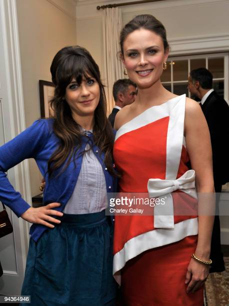 Actresses Zooey Deschanel and Emily Deschanel with Vanity Fair Cotton host an evening of fashion and compassion benefitting The Humane Society of the...