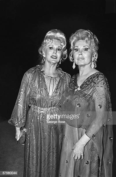 Actresses Zsa Zsa Gabor and Eva Gabor arrive on the red carpet at the 1979 Academy Awards in Los Angeles California The Hungarian sisters were more...