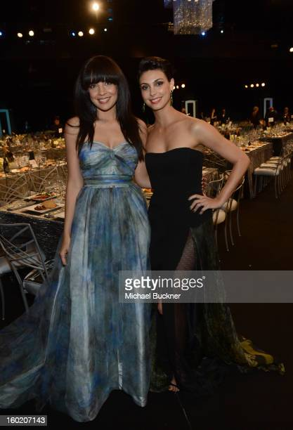 Actresses Zuleikha Robinson and Morena Baccarin attend the 19th Annual Screen Actors Guild Awards at The Shrine Auditorium on January 27 2013 in Los...