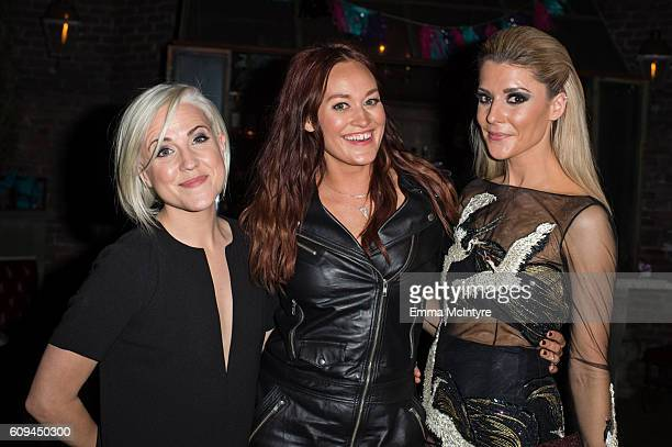 Actresses/comedians Hannah Hart Mamrie Hart and Grace Helbig attend the after party for the premiere of Lionsgate's 'Dirty 30' at ArcLight Hollywood...