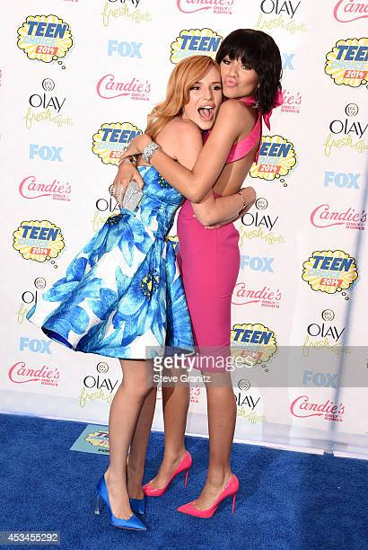 Actresses/Recording artists Bella Thorne and Zendaya attend FOX's 2014 Teen Choice Awards at The Shrine Auditorium on August 10 2014 in Los Angeles...