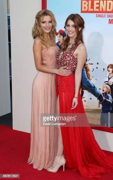 Actresses/sisters Bella Thorne and Dani Thorne attend the Los Angeles premiere of 'Blended' at the TCL Chinese Theatre on May 21 2014 in Hollywood...