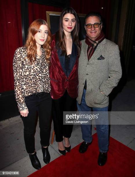 Actresses/sisters Daniella GarciaLorido and Dominik GarciaLorido and father/actor Andy Garcia attend the premiere of Parade Deck Films' Desolation at...