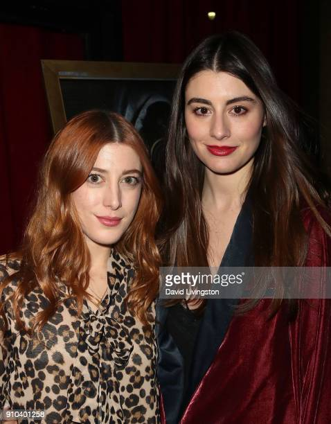 Actresses/sisters Daniella GarciaLorido and Dominik GarciaLorido attend the premiere of Parade Deck Films' Desolation at Ahrya Fine Arts Theater on...