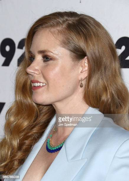 Actress/executive producer Amy Adams hair detail attends the Sharp Objects screening and conversation at 92nd Street Y on June 28 2018 in New York...