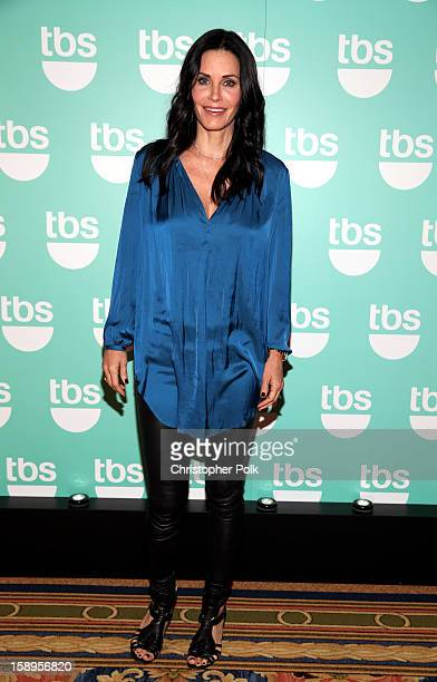 Actress/Executive Producer Courteney Cox of Cougar Town attends Turner Broadcasting's 2013 TCA Winter Tour at Langham Hotel on January 4 2013 in...