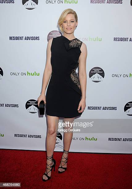 Actress/executive producer Elizabeth Banks arrives at the Los Angeles premiere of Hulu's 'Resident Advisors' at Sherry Lansing Theatre at Paramount...