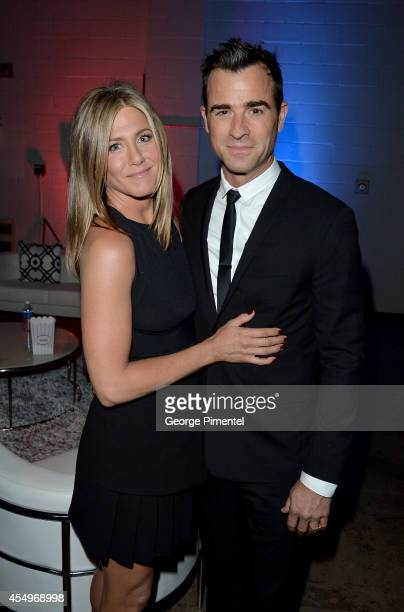 Actress/Executive Producer Jennifer Aniston and actor Justin Theroux attend the Cake premiere during the 2014 Toronto International Film Festival at...