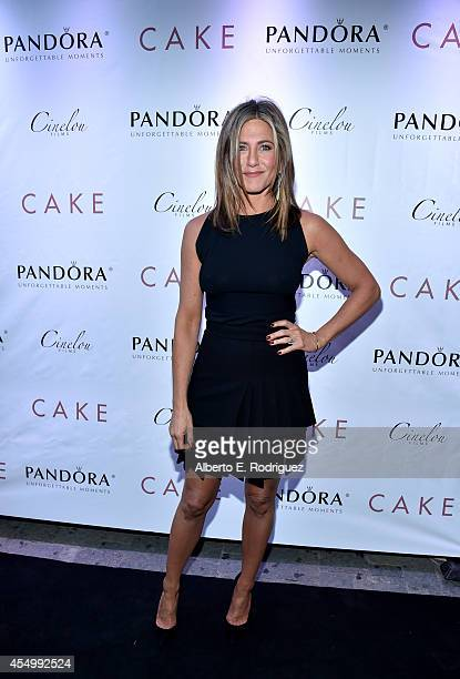 Actress/executive producer Jennifer Aniston attends the Cake cocktail reception presented by PANDORA Jewelry at West Bar on September 8 2014 in...