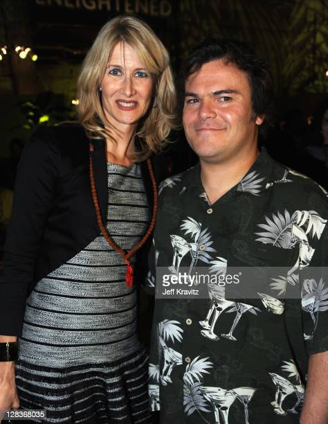 """Actress/executive producer Laura Dern and actor/musician Jack Black attend HBO's Premiere of """"Enlightened"""" after party at Paramount Studios on..."""