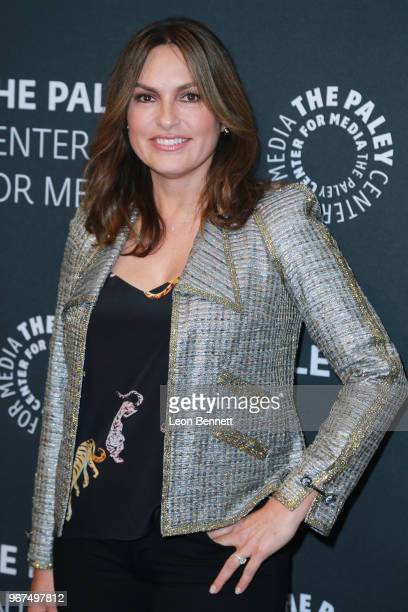 Actress/Executive Producer Marisha Hargitay attends The Paley Center For Media Presents Creating Great Characters Dick Wolf And Mariska Hargitay at...