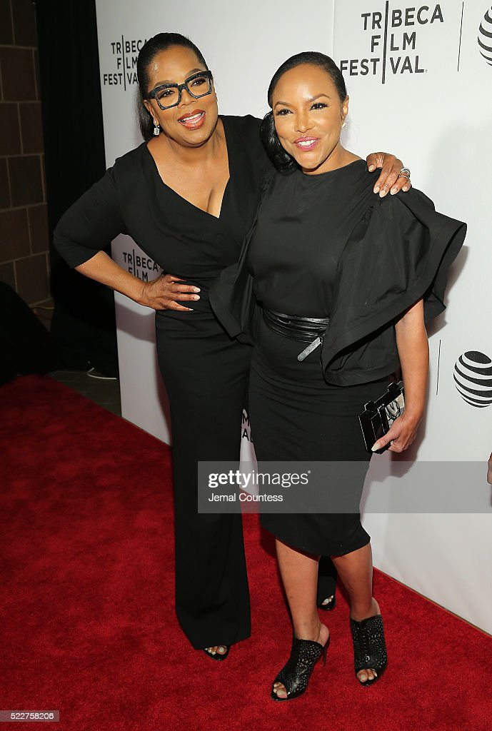 Actress/executive producer Oprah Winfrey and actress Lynn Whitfield attend the Tribeca Tune In: 'Greenleaf' Screening at John Zuccotti Theater at BMCC Tribeca Performing Arts Center on April 20, 2016 in New York City.