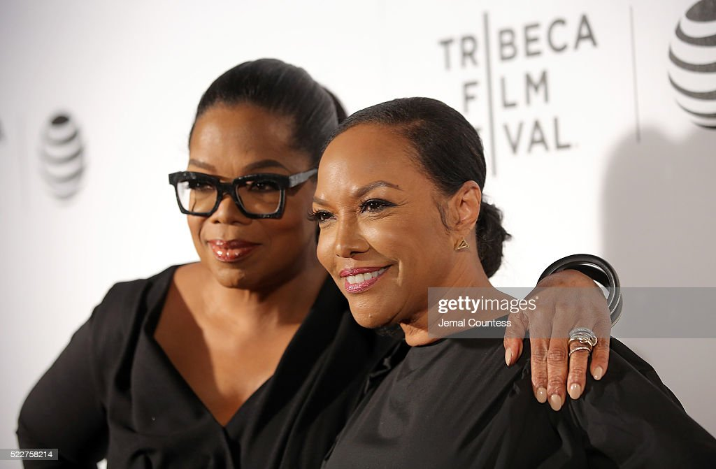 Actress/executive producer Oprah Winfrey and actress Lynn Whitfield attends the Tribeca Tune In: 'Greenleaf' Screening at John Zuccotti Theater at BMCC Tribeca Performing Arts Center on April 20, 2016 in New York City.