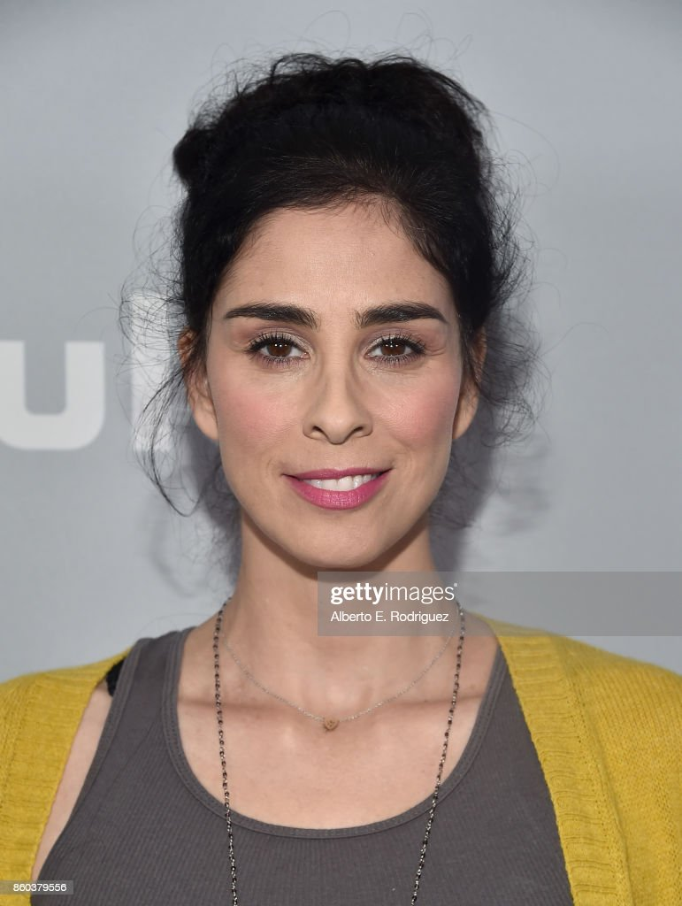 Actress/executive producer Sarah Silverman attends a photo op for Hulu's 'I Love You America' with Sarah Silverman at Chateau Marmont on October 11, 2017 in Los Angeles, California.