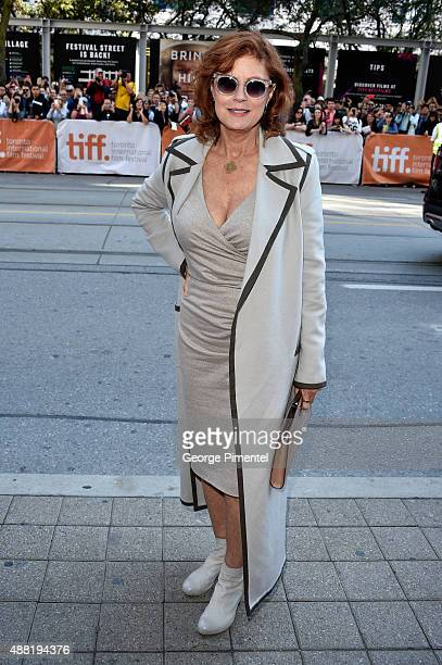 """Actress/executive producer Susan Sarandon attends """"The Meddler"""" premiere during the 2015 Toronto International Film Festival at the Princess of Wales..."""
